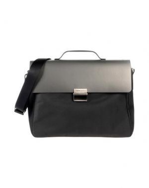 Деловые сумки MOMO DESIGN. Цвет: стальной серый