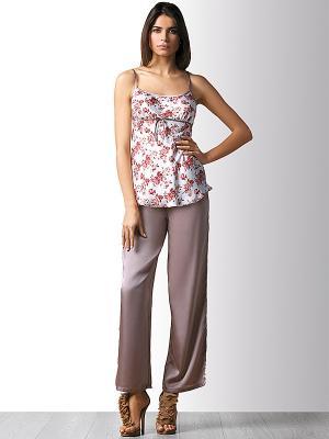 Пижама Marc&Andre. Цвет: коричневый, белый, бледно-розовый, коралловый