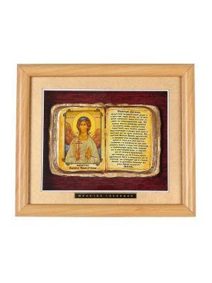 Панно среднее Молитва Ангелу Хранителю Urazaev shop. Цвет: светло-коричневый