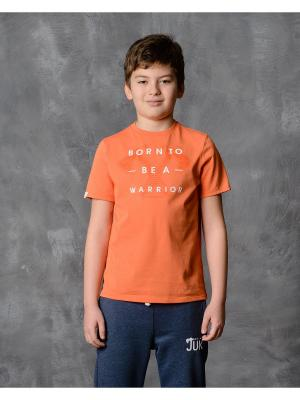 Футболка Modniy JUK. Цвет: оранжевый