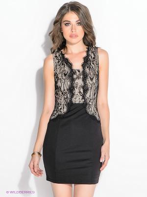 Платье NikiBiki. Цвет: черный, кремовый