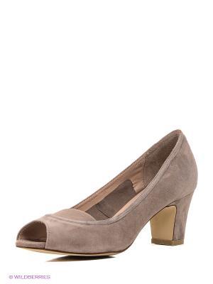 Туфли Calipso. Цвет: серо-коричневый