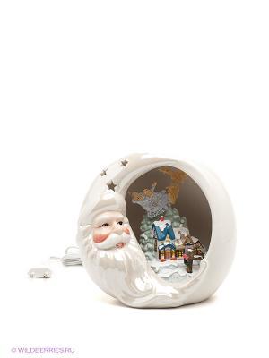 Светильник Сказки Дедушки Мороза Pavone. Цвет: синий, серебристый, красный, белый