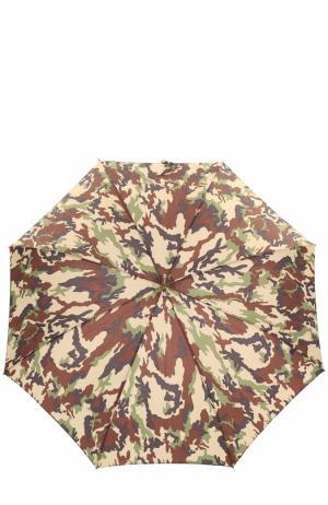 Зонт-трость с камуфляжным принтом Pasotti Ombrelli. Цвет: хаки