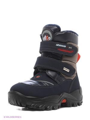Ботинки Skandia. Цвет: темно-синий