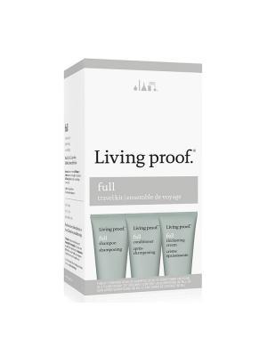 Дорожный набор для объема Living Proof. Цвет: серый