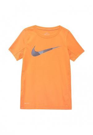 Футболка спортивная Nike. Цвет: коралловый
