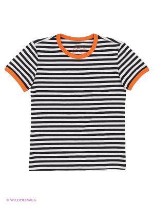 Футболка SWAP. Цвет: белый, оранжевый