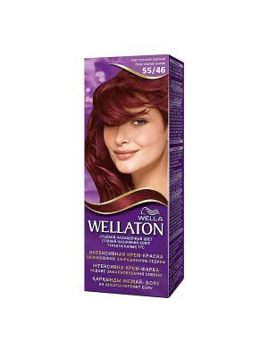 Крем-краска для волос стойкая 55/46 Экзотический красный WELLATON. Цвет: фиолетовый