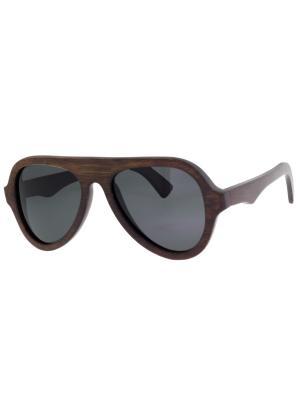 Очки TM0054-G-21-B BAMBOO TEHMODA. Цвет: коричневый