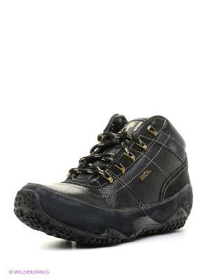 Спортивные ботинки WOODLAND. Цвет: черный