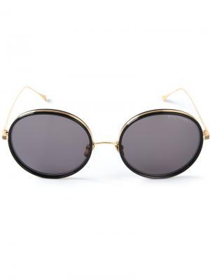 Солнцезащитные очки Freebird Dita Eyewear. Цвет: металлический