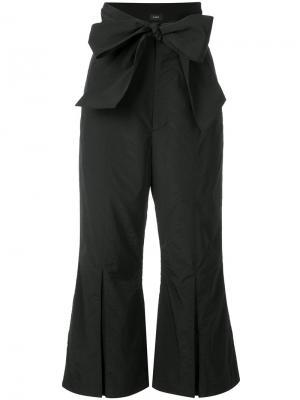 Укороченные брюки с широким поясом G.V.G.V.. Цвет: чёрный