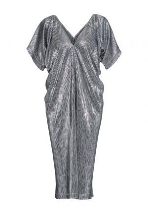 Сияющее платье свободного кроя с V-образным вырезом 190526 Cyrille Gassiline. Цвет: черный