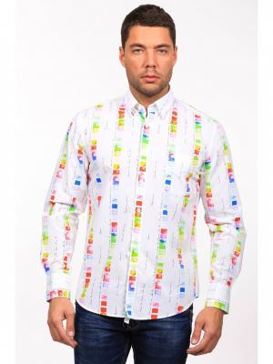 Рубашка GroStyle. Цвет: красный, белый, желтый