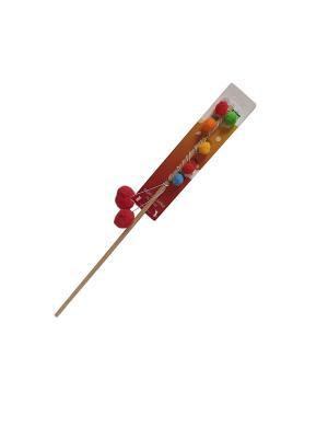 Игрушка для кошки Бамбук пуховки 60см Zoobaloo. Цвет: красный