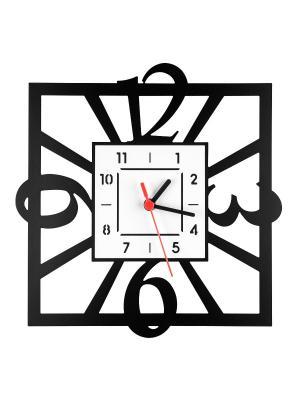 Часы Квадратные Miolla. Цвет: черный, красный