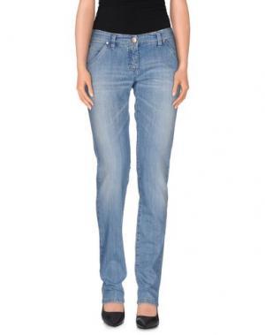 Джинсовые брюки L'AIR DE RIEN. Цвет: синий