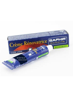 Восстановитель кожи Creme RENOVATRICE, 25 мл. (жидкая кожа)(ТЕМНО-СИНИЙ - 06) Saphir. Цвет: темно-синий