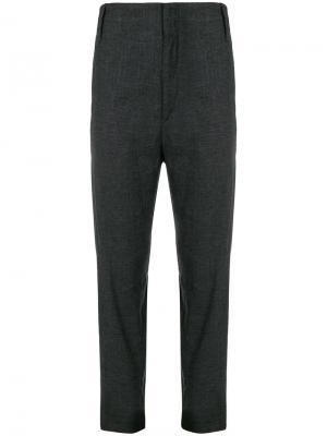 Укороченные брюки с завышенной талией Isabel Marant Étoile. Цвет: серый