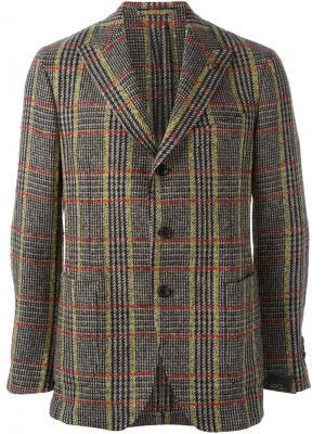 Твидовый пиджак Gabriele Pasini. Цвет: коричневый