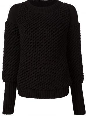 Трикотажный свитер Valery Kovalska. Цвет: чёрный