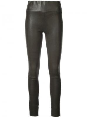Узкие брюки с завышенной посадкой Sprwmn. Цвет: чёрный