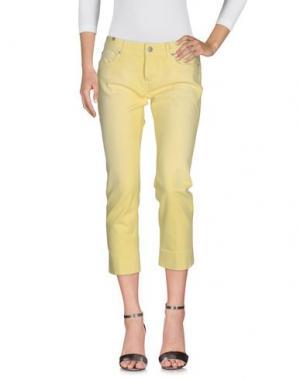 Джинсовые брюки NOTIFY. Цвет: желтый