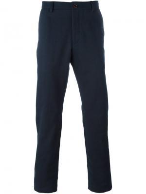 Прямые брюки чинос Al Duca D'Aosta 1902. Цвет: синий