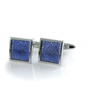 Запонки  BF-0281 BLUE HENDERSON. Цвет: голубой