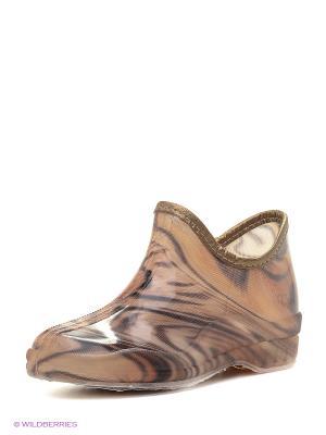 Резиновые сапоги BRIS. Цвет: коричневый