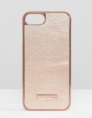 Skinnydip Полиуретановый чехол для iPhone 7 цвета розового золота. Цвет: медный