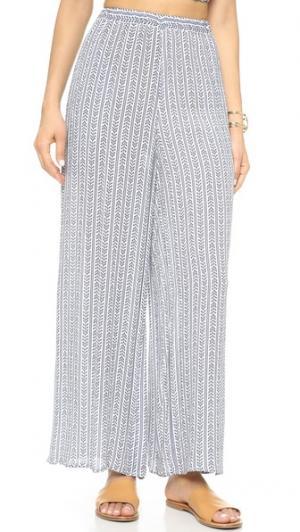 Широкие брюки Mara Hoffman. Цвет: кобальтовая вертушка