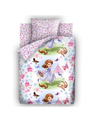 Комплект постельного белья 1,5 бязь София Прекрасная Disney. Цвет: сиреневый