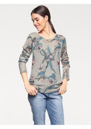Пуловер Linea Tesini. Цвет: цветной