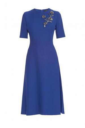 Alessandro Dellacqua Платье из искусственного шелка 177247 Dell'acqua. Цвет: синий
