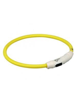 Светящийся ошейник Unigood. Цвет: желтый