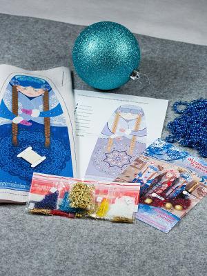 Набор для шитья и вышивания Снегурочка Матренин Посад. Цвет: бежевый, голубой