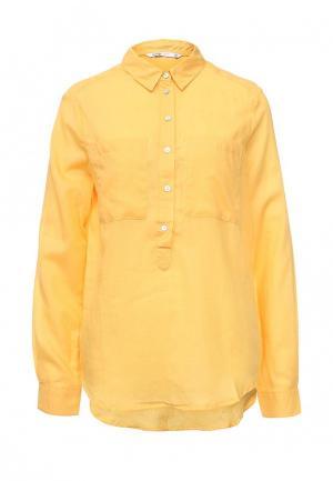 Рубашка oodji. Цвет: желтый