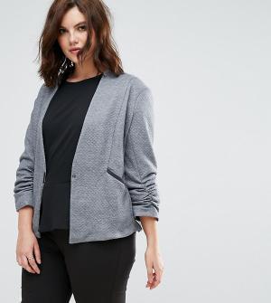 Elvi Серая стеганая куртка. Цвет: серый