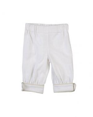 Повседневные брюки LA STUPENDERIA. Цвет: белый