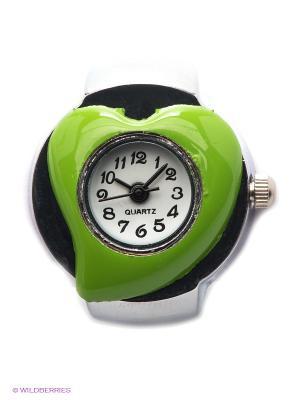 Часы-кольцо Heart (зеленые) Kawaii Factory. Цвет: зеленый