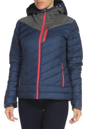 Полуприлегающая куртка с капюшоном Icepeak. Цвет: синий