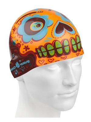 Шапочки для плавания Mad Wave. Цвет: черный, зеленый, голубой, оранжевый