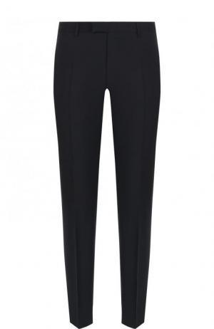 Шерстяные брюки прямого кроя Windsor. Цвет: темно-синий