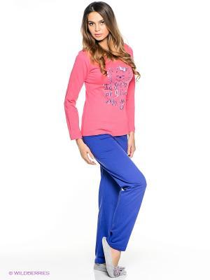 Комплект Vienetta Secret. Цвет: розовый, синий