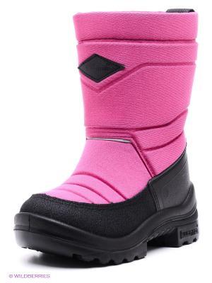 Полусапожки KUOMA. Цвет: розовый, черный