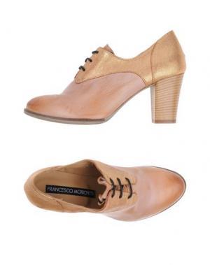 Обувь на шнурках FABBRICA MORICHETTI. Цвет: песочный