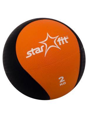 Медбол STAR FIT Pro GB-702, 2 кг, оранжевый starfit. Цвет: оранжевый