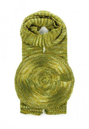 Комплект шапка и шарф Venera. Цвет: зеленый